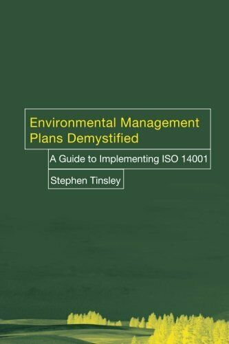 Environ Management Plans Demystifie: A Guide to... by Tinsley, Stephen Paperback