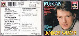 CD-16T-LAMBERT-WILSON-JOHN-McGLINN-MUSICALS-LES-MISERABLES-WEST-SIDE-STORY