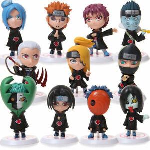 3'' 11Pcs/Set Cute Naruto Akatsuki Action Figures Uchiha Itachi Sasuke Deidara