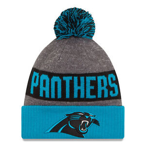 6966648e6e4 Carolina Panthers New Era 2016 Official NFL Sideline Sport Knit Pom ...