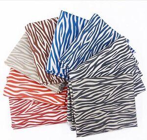 Zebra-print-100-Cotton-Fabric-By-Half-YARD-Trendy-Modern-animal-DTP-JC6-32