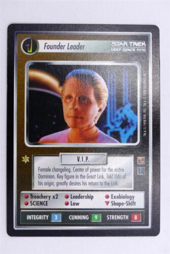 Star Trek TNG TCG Card # 1E85 Founder Leader
