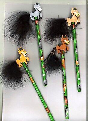 Schöner Bleistift mit Pferde Radiergummi für Schultüte