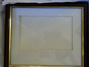 Diploma Certificate Cherry Black Frame Mat Fits85 X 11 W Gold New