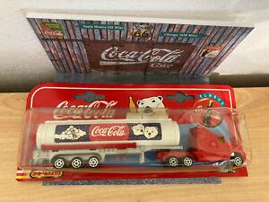 Coca-Cola Majorette serie 600 Camion citerne Kenworth 1/87 + diorama maison 1/43