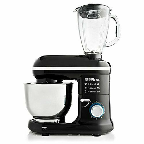 1300W Electric Sensio Home 2-in-1 Food Processor Blender /& Stand Mixer Machine
