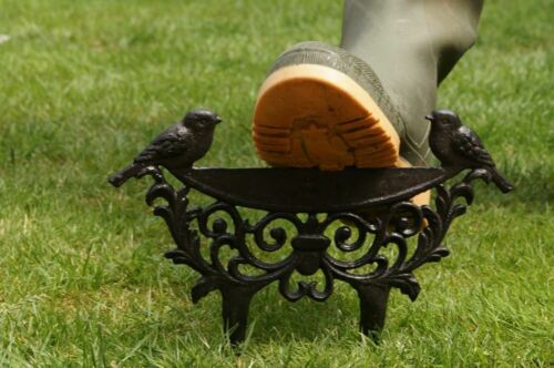 Rustic Cast Iron Two Birds Boot Scraper
