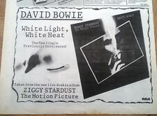 DAVID BOWIE White Light, White Heat 1983 UK  Press ADVERT 12x8 inches