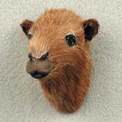 ONE WHITE LIFELIKE BISON FURRY ANIMAL MAGNET PARTLY HANDCTAFTED GREAT GIFT!