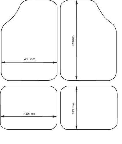 4tlg Velours Autoteppiche Schwarz Fußmatten für Alfa Romeo BMW Citroen Volvo