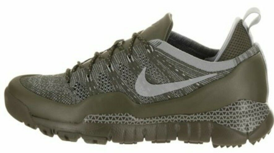 Nike Lupinek Flyknit Low Khaki Mica Green Uk 8 Bnib Mens Trainers 882685 300
