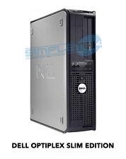 COMPUTER DUAL CORE INTEL CORE 2 DUO DELL OPTIPLEX SLIM LINE EDITION WIFI USB DVD