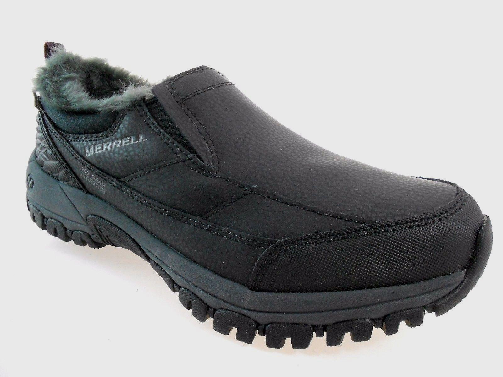 NIB MERRELL J317925C ENDERSY THERMO MOC WOMEN BLACK WTPF INSULATED SLIP ON Schuhe