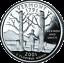 "Cameo 2001 S PROOF CLAD /""Vermont/"" Statehood Washington Quarter Dollar"