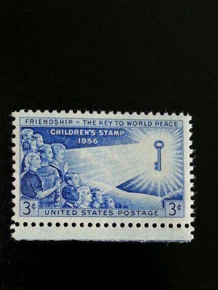 1956 3c Friendship - The Key to World Peace, Children S