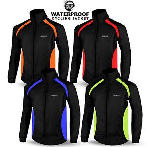 Homme-cyclisme-veste-impermeable-etanche-haute-visibilite-course-manches-longues-top-coat
