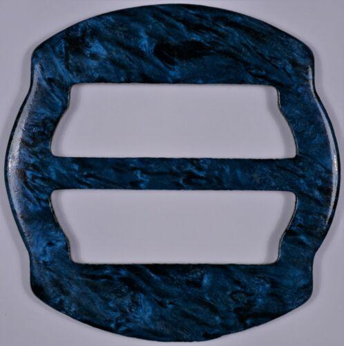 3x VINTAGE PLASTIC 3 BAR SLIDES TRI GLIDE BUCKLES WEBBING DRESSMOTTLED 3CM