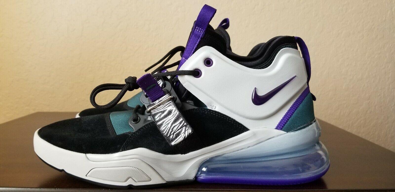 NEW Nike Air Force 270 'Carnivore' Black Purple AH6772 005 Men's Size 11.5
