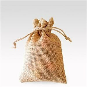 Image Is Loading Natural Hessian Bags Rustic Wedding Favour