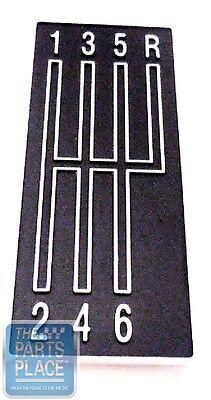 Console Emblem 68 69 Camaro
