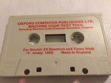 SINCLAIR ZX SPECTRUM 16K MACHINE CODE SOFTWARE ENTER +DE-DUG TEST TOOL By OXFORD