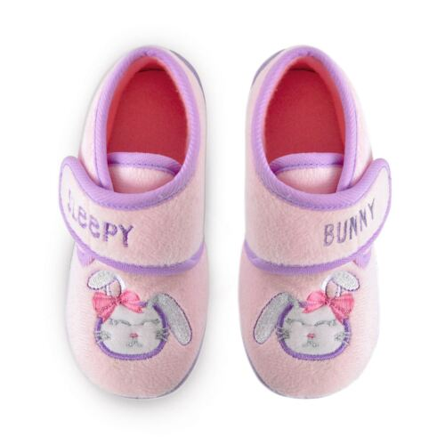 Childrens//Kids//Toddlers Sleepy Bunny Toddlers Strap Up Slippers Various Sizes