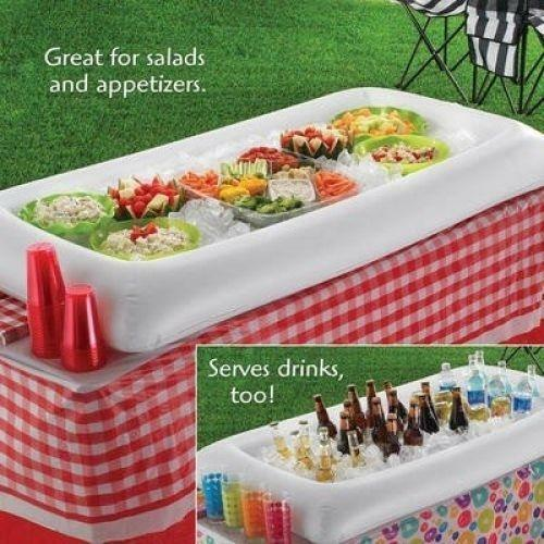 Inflatable Serving Bar Buffet Salad Ice Cooler Picnic Camping Party Yard Outdoor Ebay