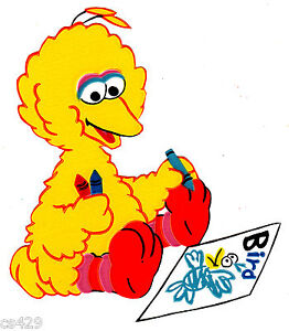 "5"" SESAME STREET BIG BIRD SCHOOL CHARACTER PREPASTED WALL ..."