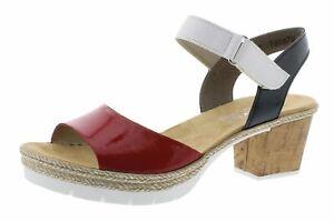 Rieker Damen Sandale in rot | Schuhfachmann