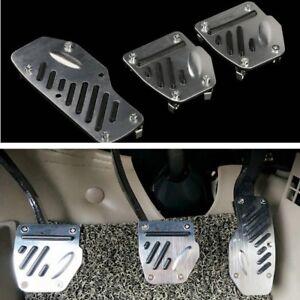 Aluminium-alloy-Foot-Pedals-Pad-Covers-Manual-Transmission-M-T-3PCS-Non-Slip
