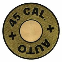 45 Cal Calibre Caliber Gun Bullet 4 Embroidered Fun Nra Biker Mc Patch Pat-0016