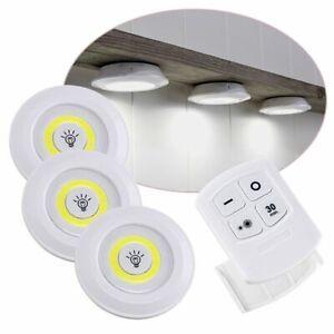 3er Set Del Soubassement Lampes Armoire Luminaires Pile Télécommande-en Schrankleuchten Batteriebetrieben Fernbedienung Fr-fr Afficher Le Titre D'origine Brillant