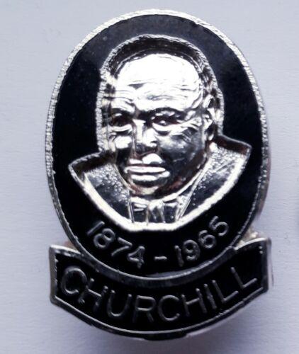 Winston Churchill 1874-1965 pin lapel badge