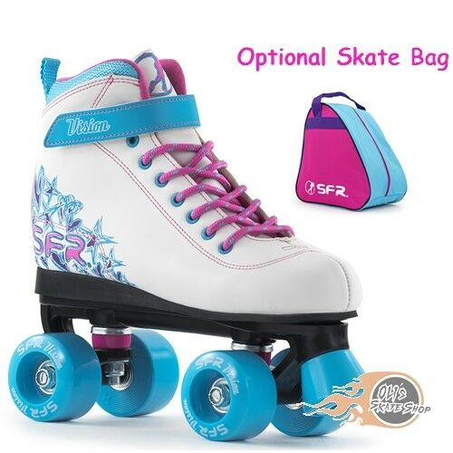 Optional Skate Bag SFR Vision II Quad Roller Skates Girls White//Blue
