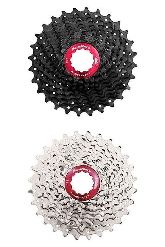 Sunrace 11 Velocità Cassetta Road CSRX1 11-32 Denti silver Od.black red