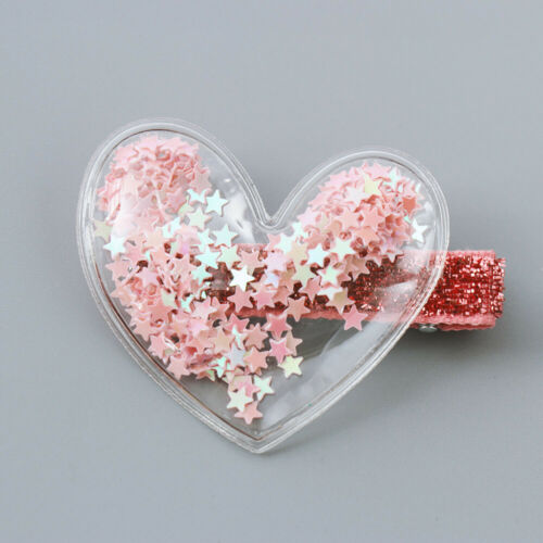 Glitter Star Crown Barrette Hair Clip Baby Girl Sequins Hairpin Twinkle Hairgrip