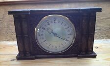 Vintage Westclox Mantle Clock/Wood Effect/Black Forest Carved Look/Retro/1960's