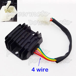 4 wire voltage regulator rectifier for gy6 50cc 125cc 150cc hondaimage is loading 4 wire voltage regulator rectifier for gy6 50cc