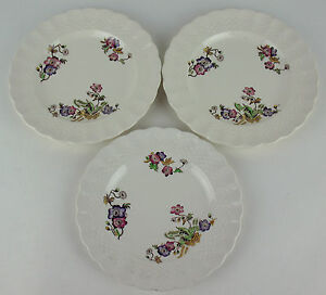 Set-3-x-Bread-Plates-Spode-Wicker-Lane-about-6-3-4-034-size-varies-vintage