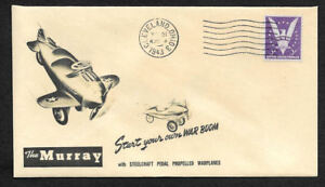 1940s-WWII-Pedal-Car-Warplane-Ad-Featured-on-Collector-039-s-Envelope-OP903