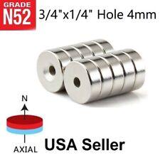10 25 50 Countersunk Magnets 34 X14 Hole 4mm Rare Earth Neodymium Disc