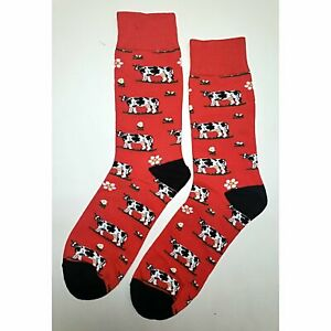 NWT Angry Cow Dress Socks Novelty Men 8-12 Red Fun Sockfly | eBay