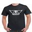 Aerosmith-Wings-T-Shirt-Classic-Rock-Band thumbnail 1