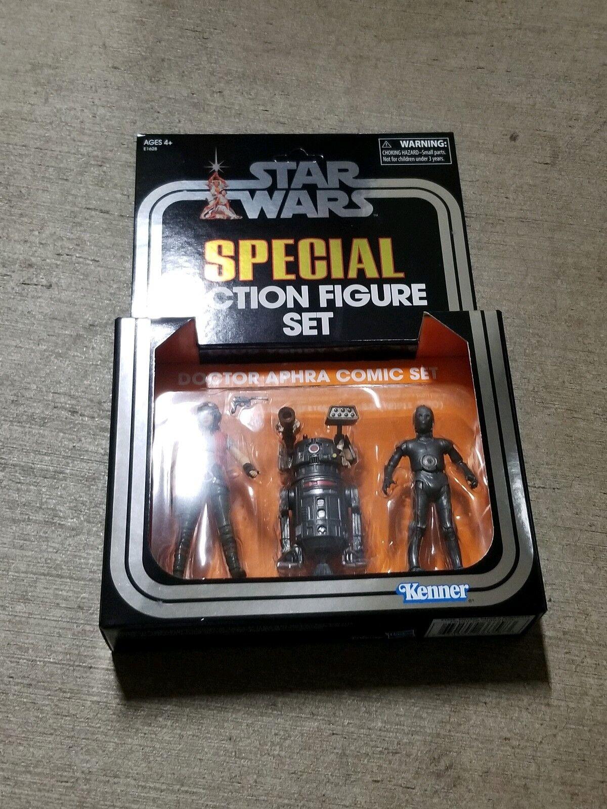 SDCC 2018 Exclusive Hasbro Star Wars Vintage Collection Doctor Aphra Comic Set