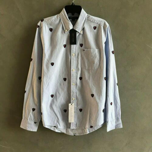 NWT Tommy Hilfiger Men/'s All Cotton Oxford Botton Down Long Sleeve Causal Shirt