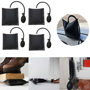 FOUR-Air-Wedge-Pump-Up-Bag-Inflatable-Car-Entry-Fit-Shim-Window-Home-Door-KIT