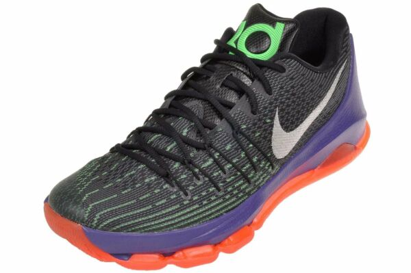 8e92df9a7c9 Nike KD 8 VIII Sz 9 Black White Green Shock HYPER Orange 749375 013 for  sale online