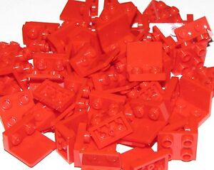 Lego-Lot-of-50-New-Red-Brackets-1-x-2-2-x-2-Inverted-Building-Blocks-Pieces
