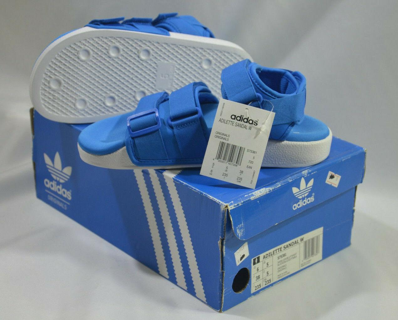 Nuevas Adidas Originales Para Mujer Adilette Sandalia W S75381 Azul EE. UU. 6 Reino Unido 5 J225 Slide
