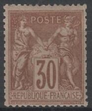 "FRANCE STAMP TIMBRE N° 80 "" TYPE SAGE 30c BRUN-JAUNE 1881 "" NEUF xx TB M503"